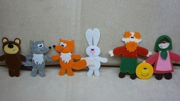 игрушки из фетра и флиса