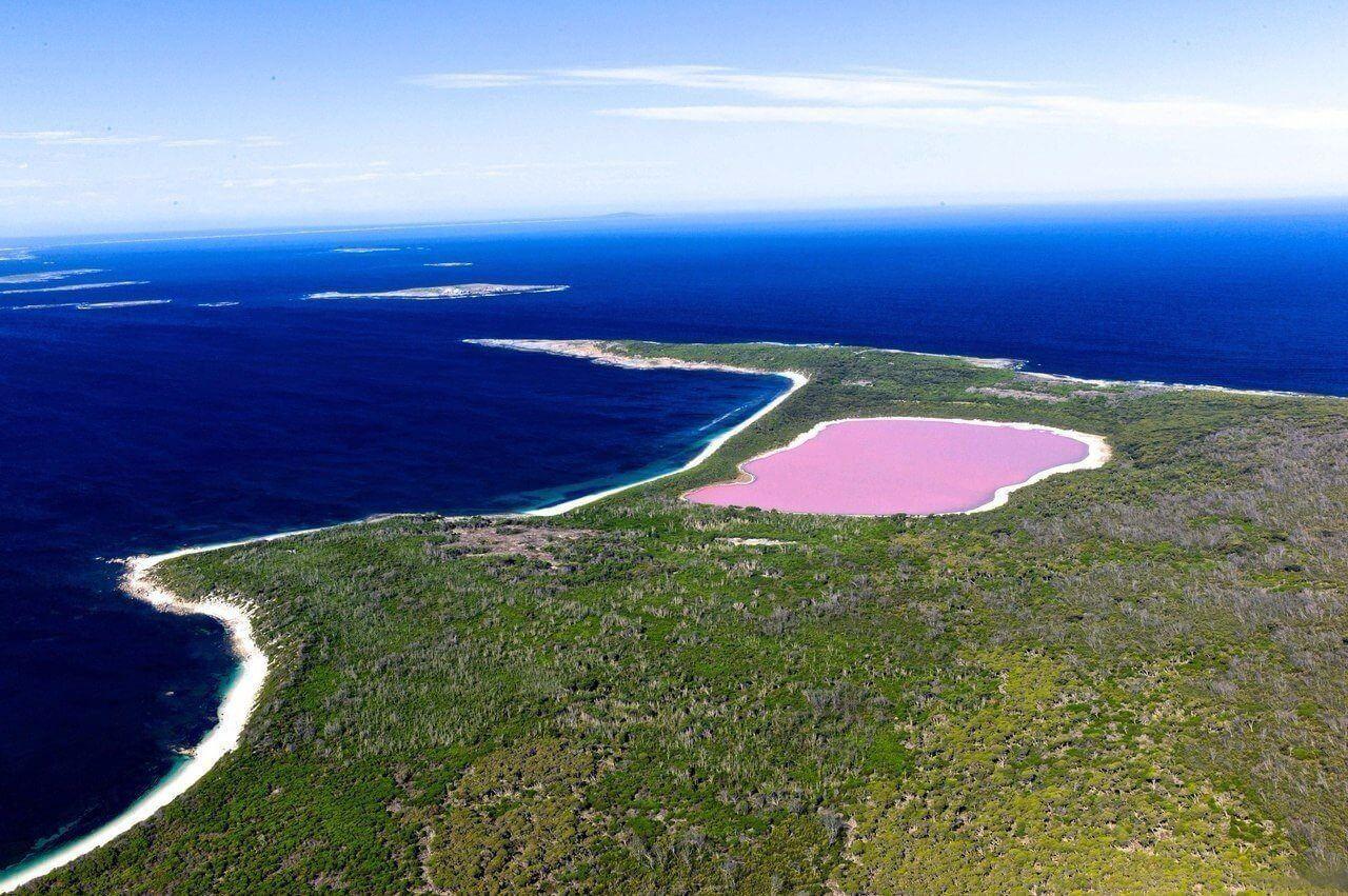 Австралия озеро хиллер