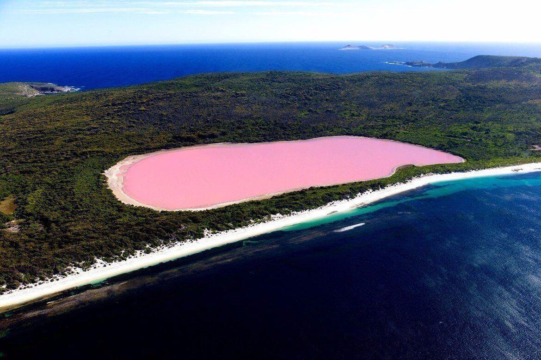 какого цвета озеро хиллер в австралии