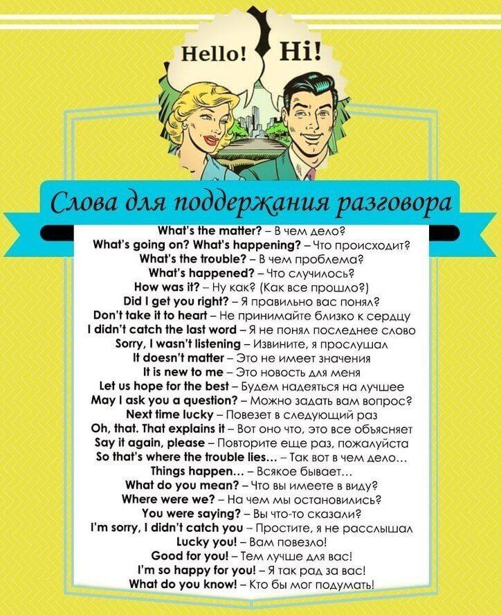 слова знакомства список