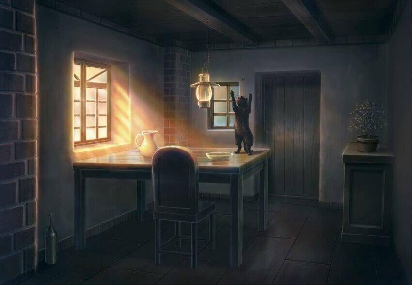 утро в жизни кошки