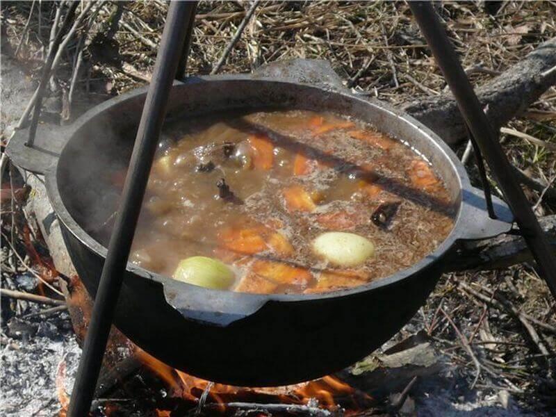 картофельный суп на охоте