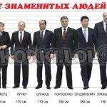 Рост Путина, Медведева, Сталина, Гитлера, Баскова и других известных знаменитых людей