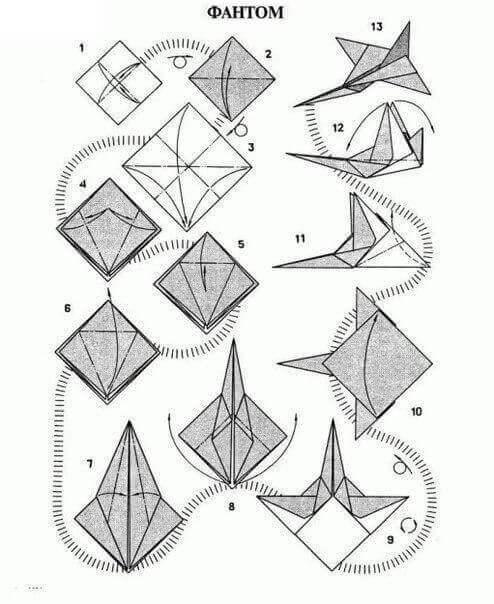 модели самолётов из бумаги и картона
