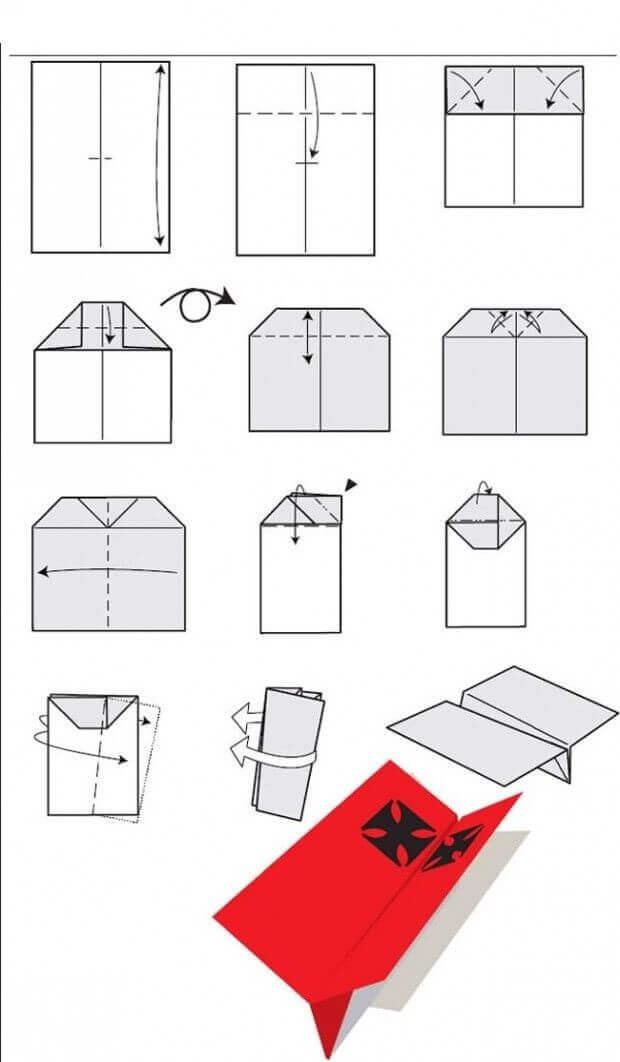 модель самолёта из бумаги