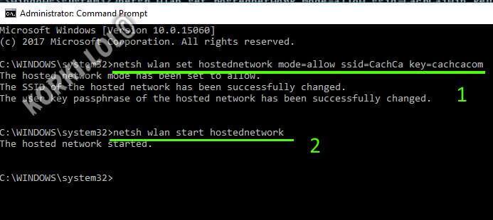 раздача wifi через командную строку windows 10