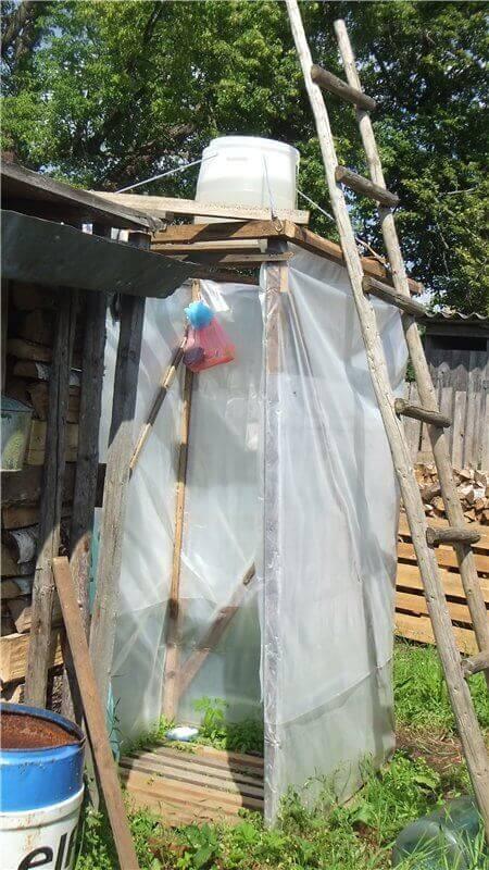 как помыться на даче