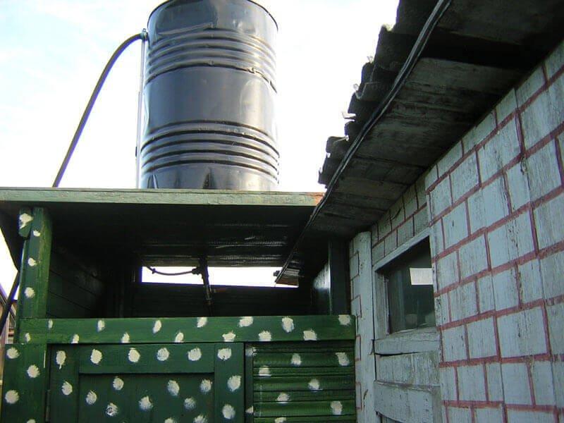 строим душ для дачного участка
