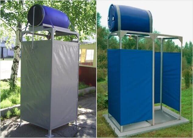 как построить душ на даче быстро и дешево