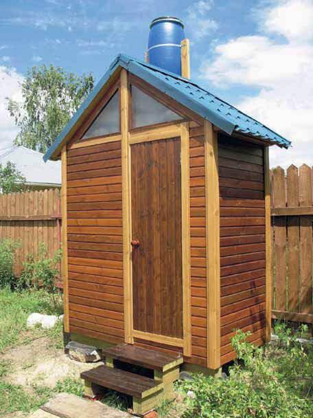 деревянный душ для дачи и дома