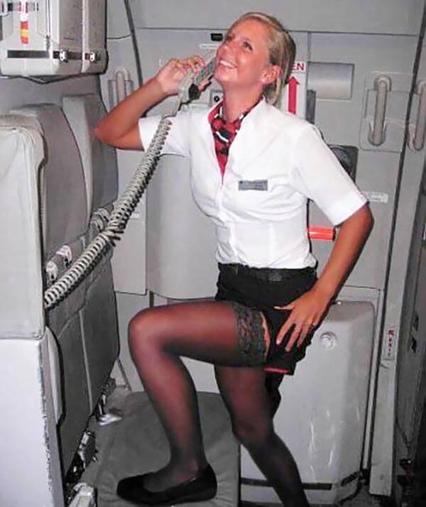 Фото стюардесса в чулках ххх162