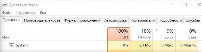 загрузка ЦП на 100 процентов windows 10