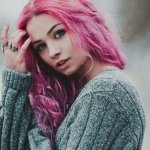 Фото цветных волос у девушек