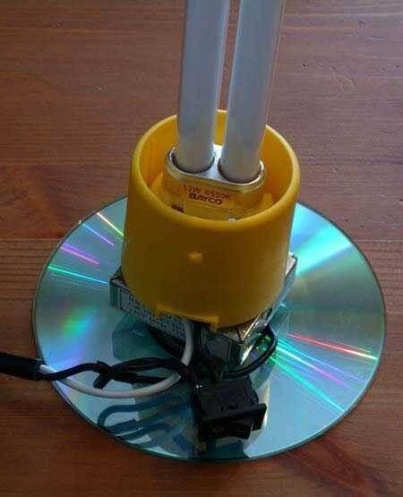 лампа из сд дисков