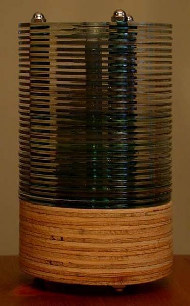 светильник из дисков своими руками