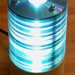 Светильник из CD дисков своими руками