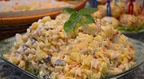 очень вкусный салат с курицей пошагово