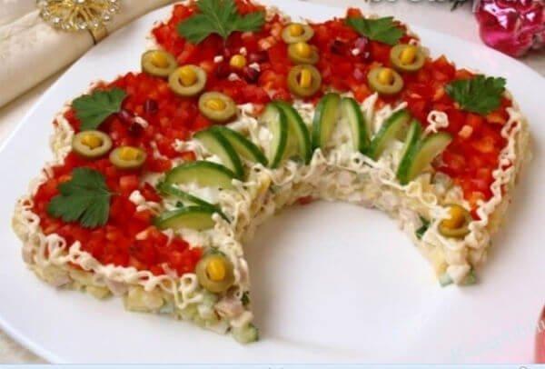 салат с курицей пошаговой рецепт с фото