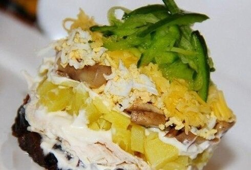 куриный салат к празднику