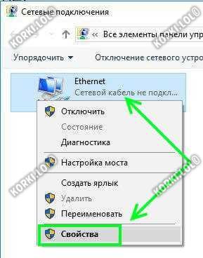 свойства сетевой карты windows 10