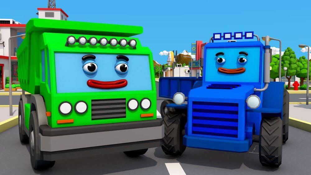 Сказка трактор кран и грузовик читать