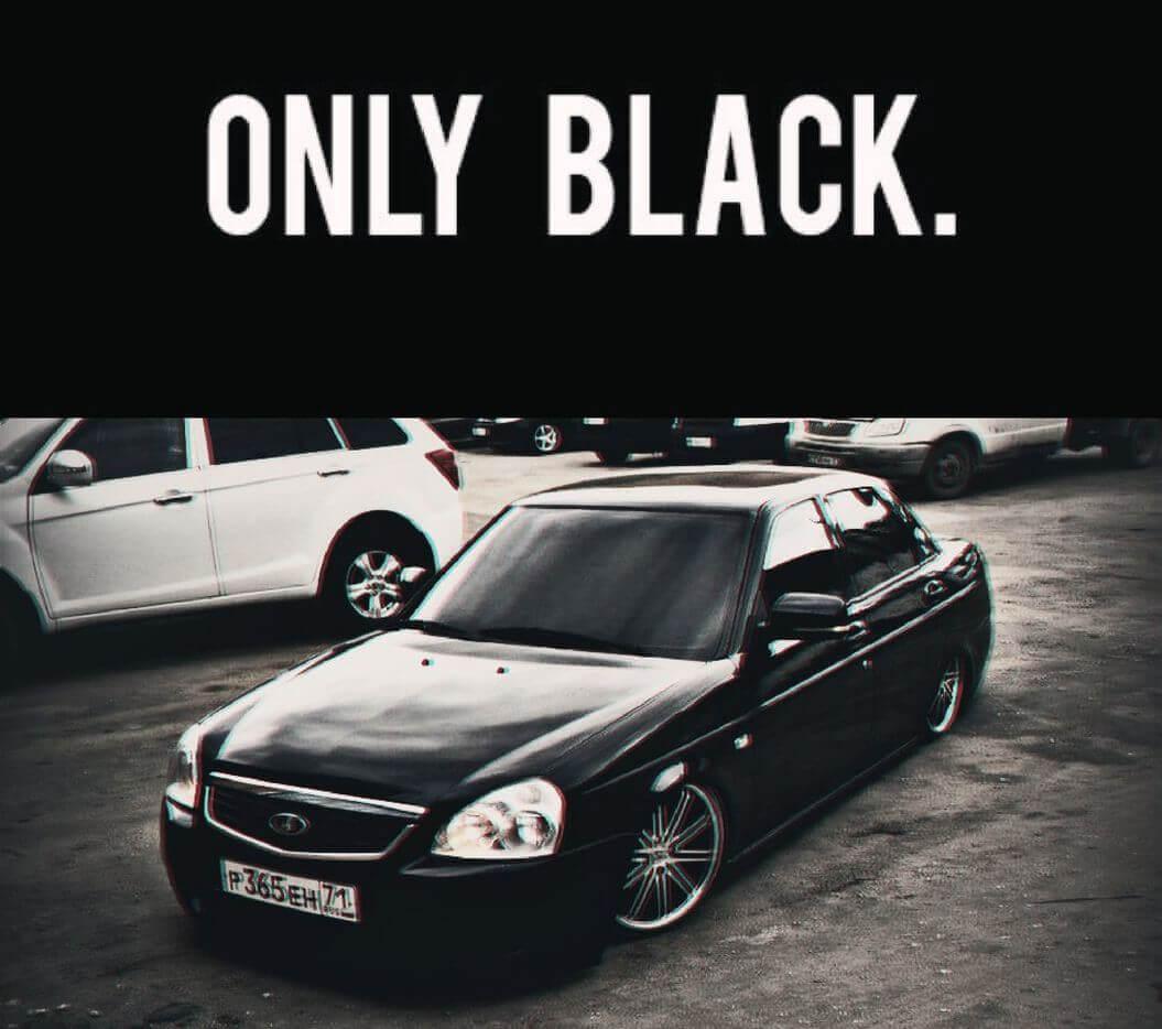 black prioraz 10 - Фото лада приора седан черная