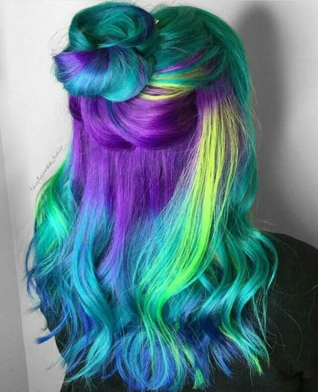 Фото цветных волос