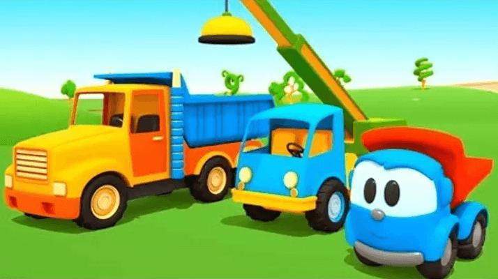 Сказка детям про трактор кран и грузовик
